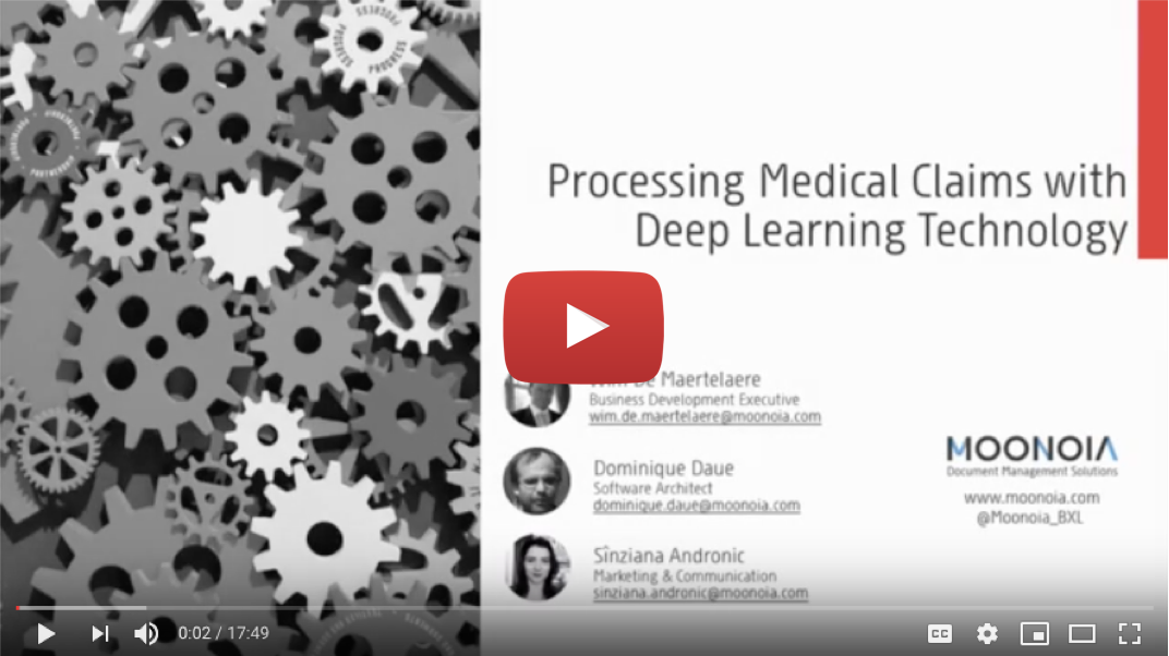Processing medical claims with deep learning technology
