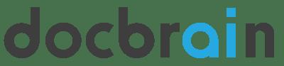 docBrain logo type