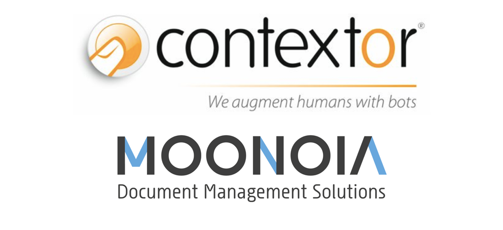 Moonoia and Contextor team up for Robotic Process Automation solution