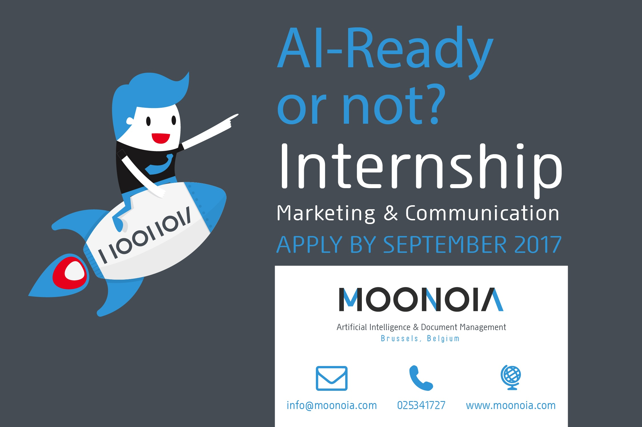 We are looking for a Marketing & Communication intern!