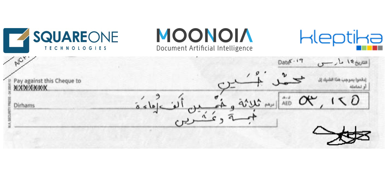 Partnership: Moonoia, SquareOne and Kleptika to deliver AI document solutions (including automatic Arabic text extraction)