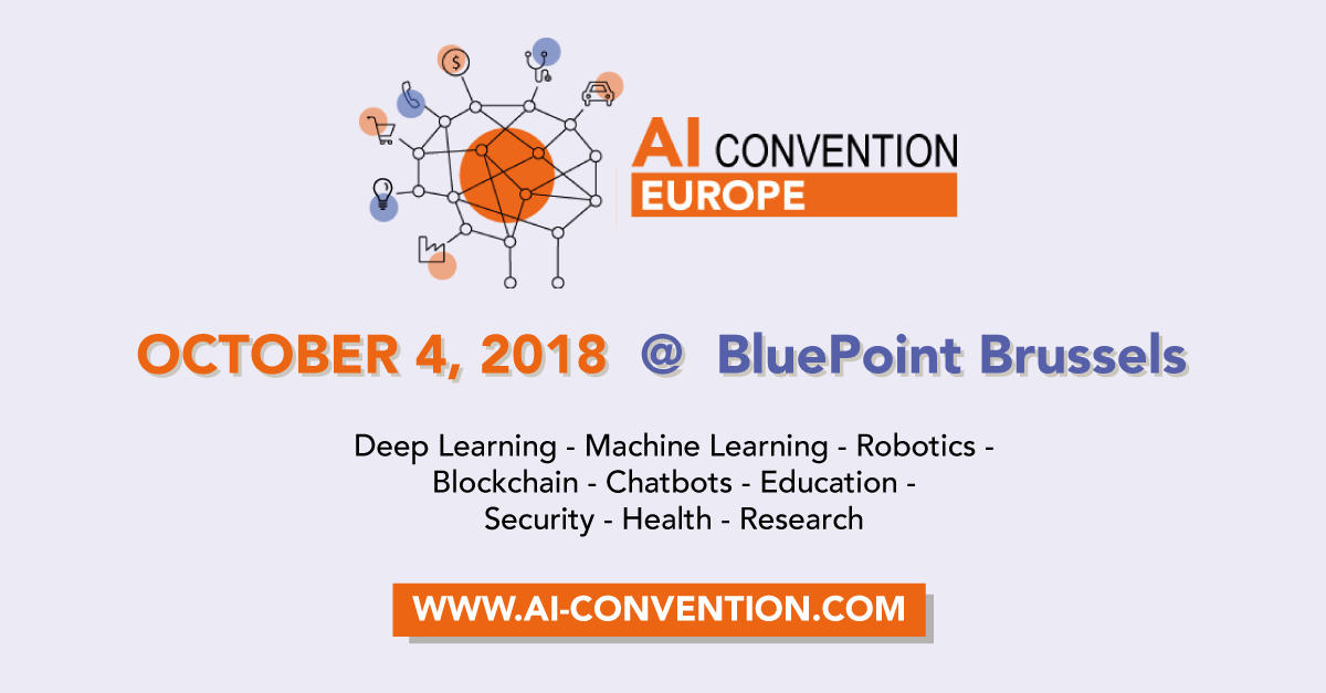 Moonoia together with Contextor and Shoot and Prove to sponsor the AI Convention Europe 2018